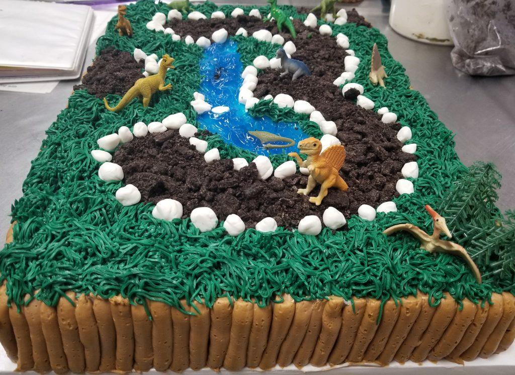 3 Birthday Dinasaur Cake