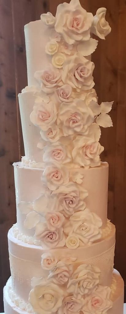 Blush Sugar Wedding Cake