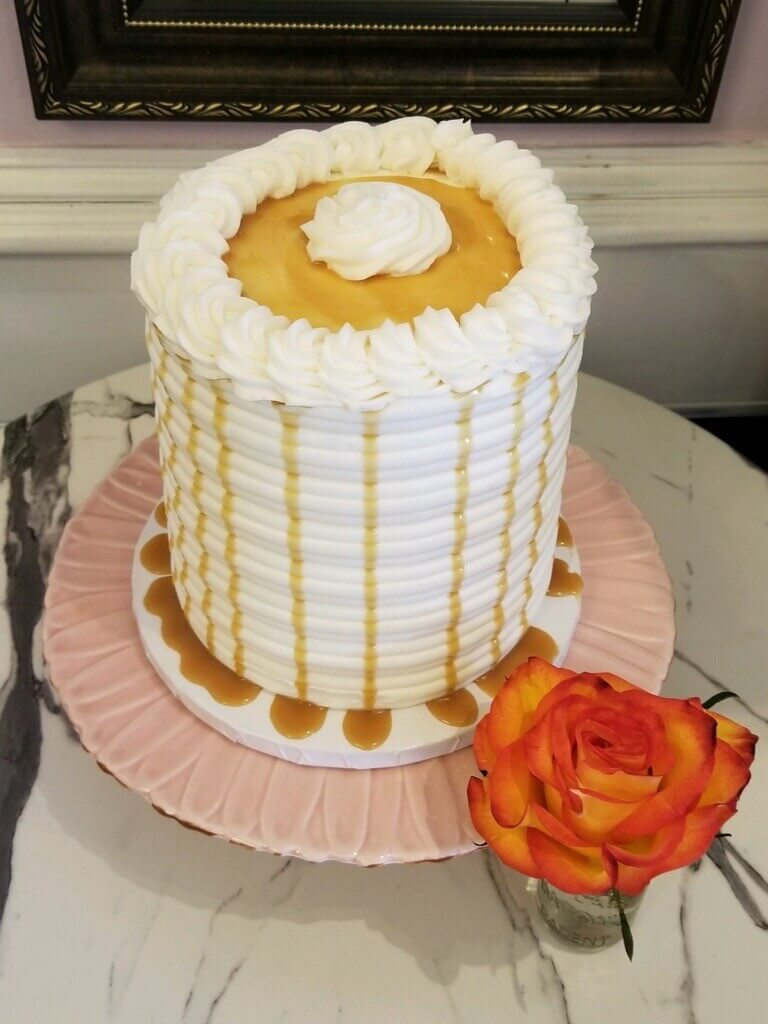 Caramel Apple Drip Cake