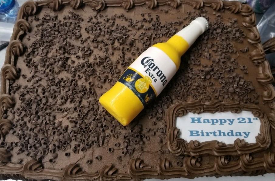 Corona Birthday Cake