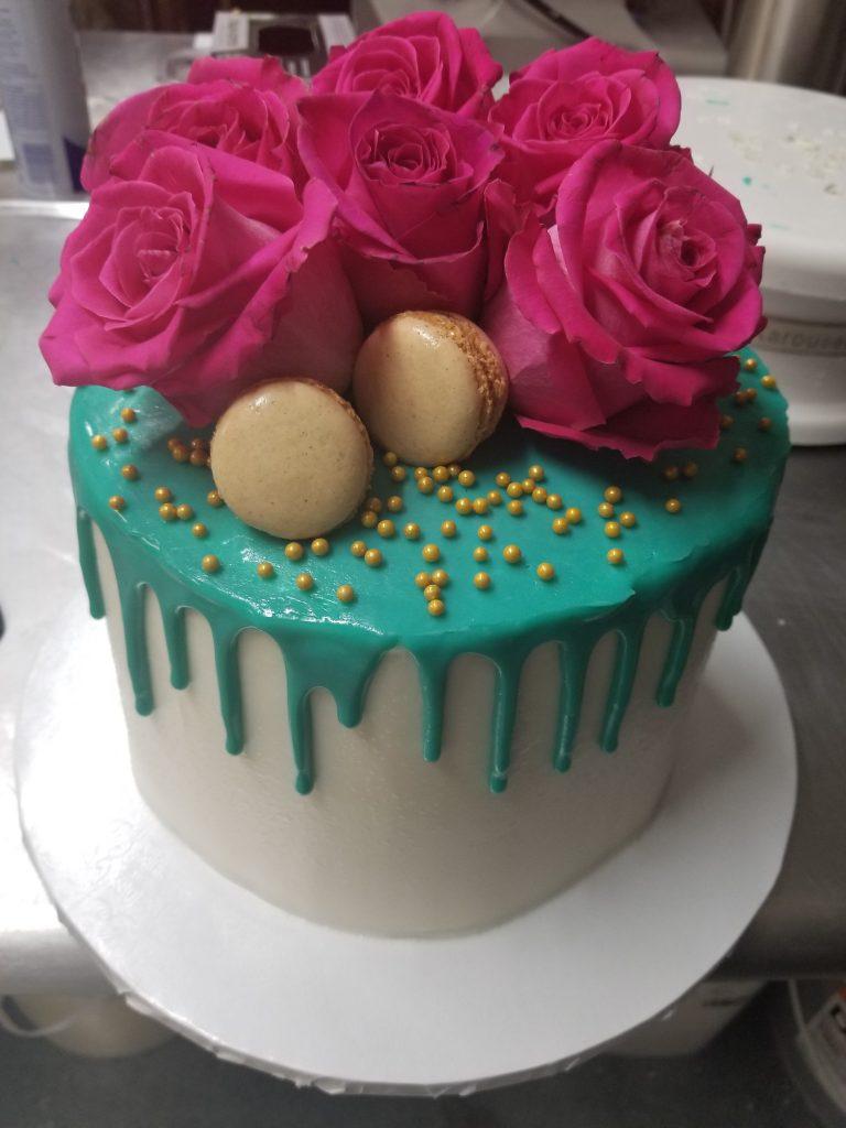 Drip Floral Birthday Cake
