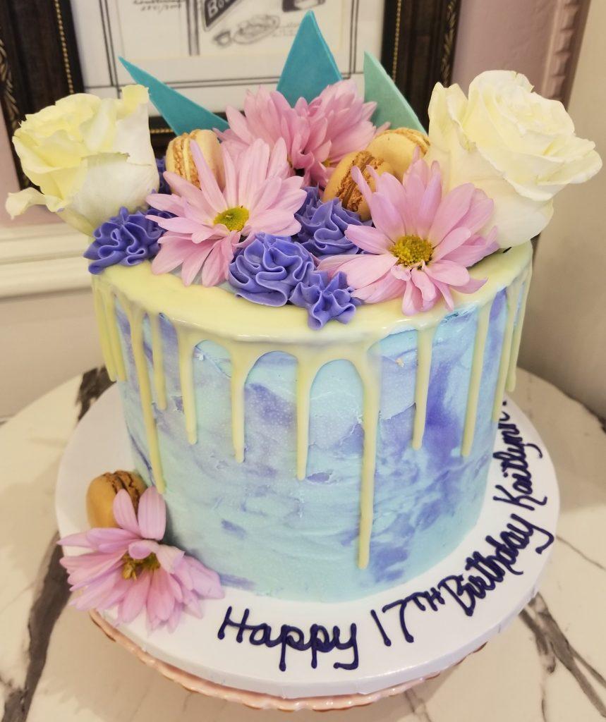 Drip Floral Cake
