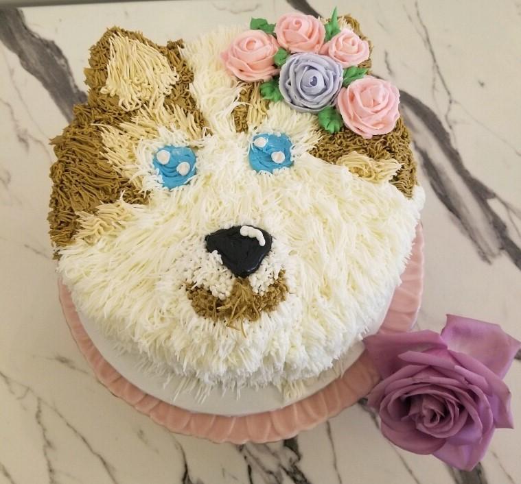 Husky Birthday Cake