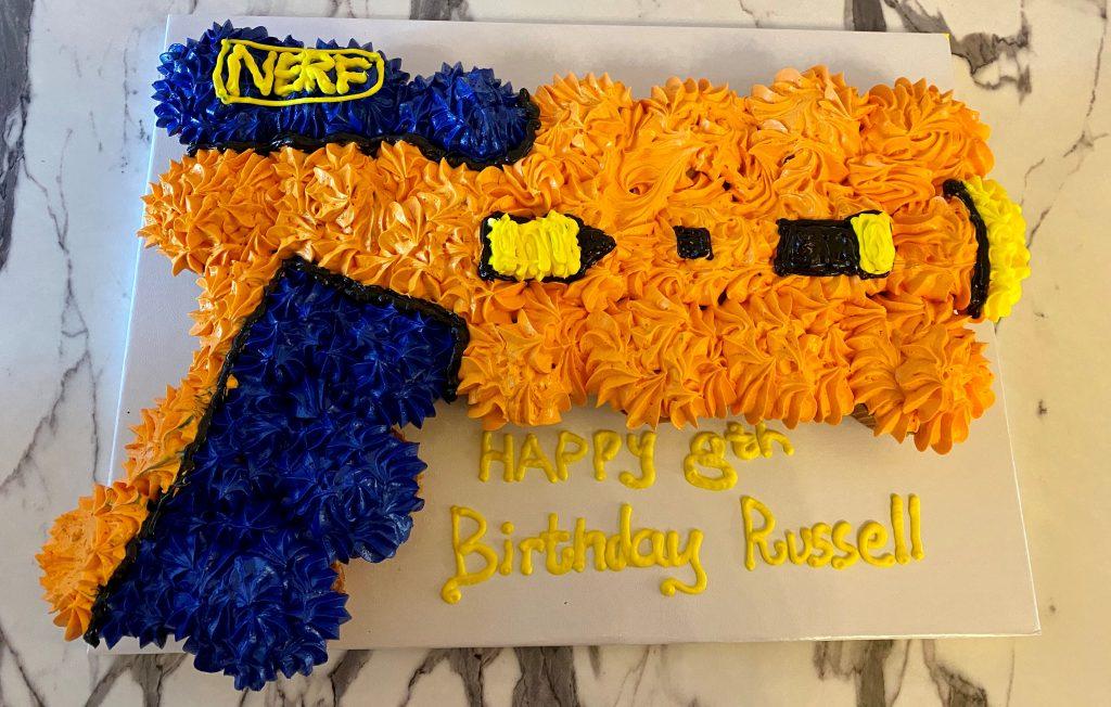 Nerf Cupcake cake
