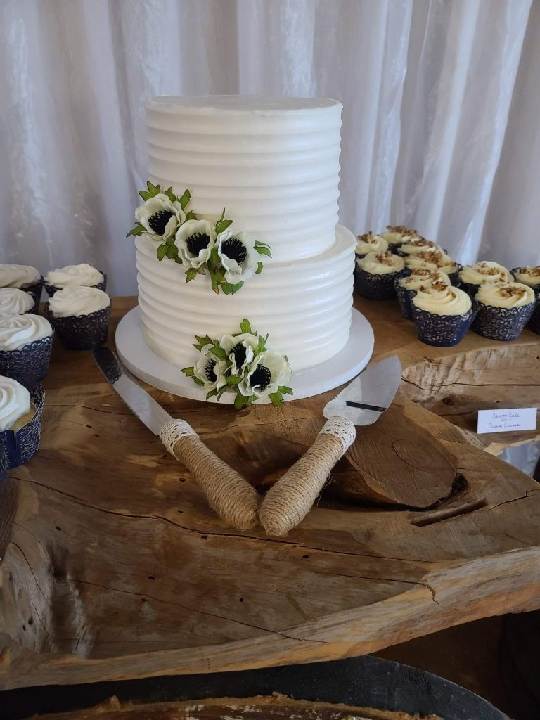 Rustic Two Tier Cake
