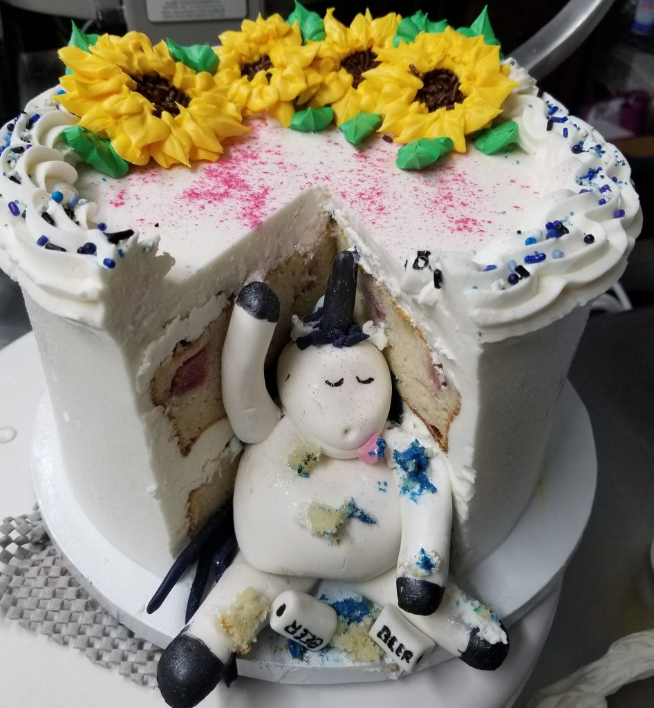 Unicorn Eugene Birthday Cake