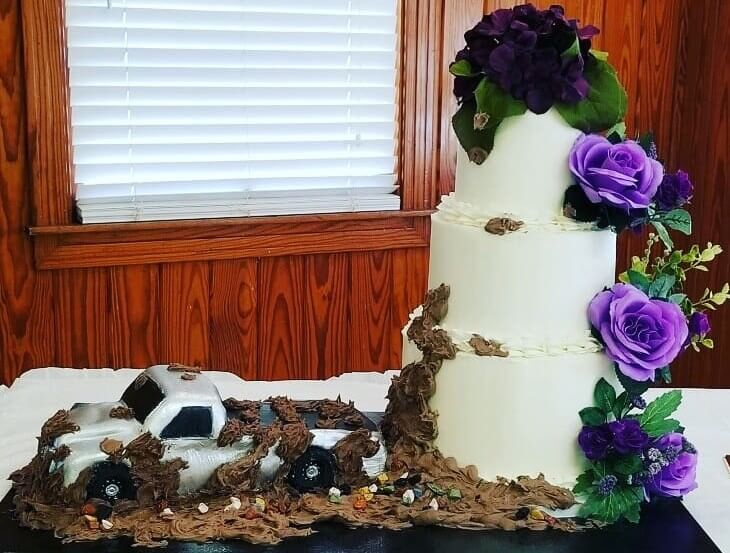Wedding Cake with Truck