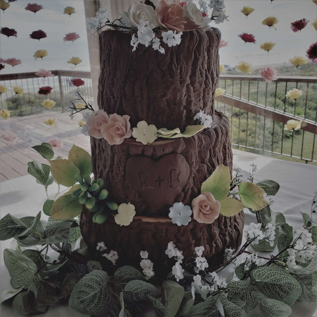Wooden Wedding Cake