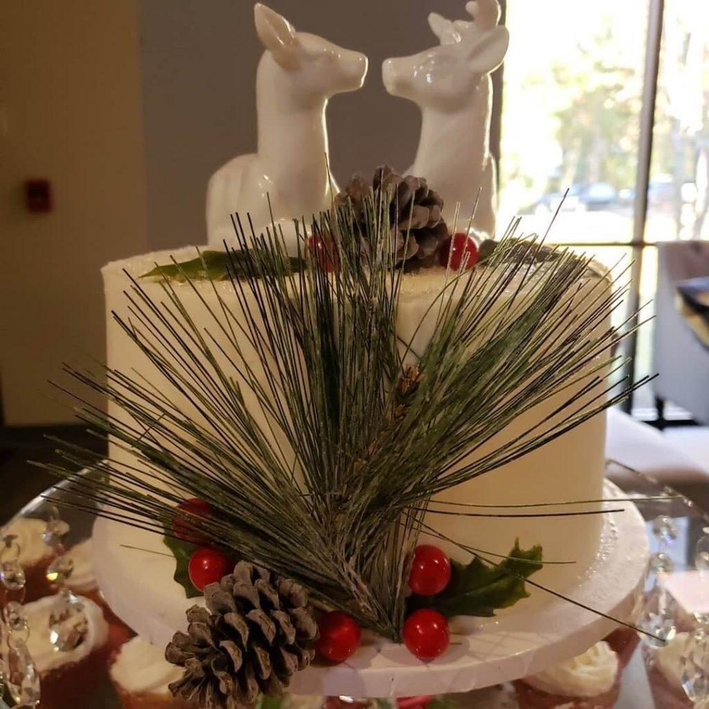 Xmas Wedding Cake